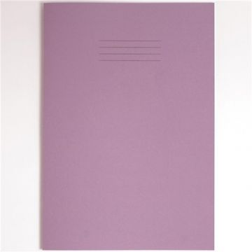 4 x SCHOOL EXERCISE BOOKS A4 PURPLE COVER MATHS EXTRA LARGE 20mm SQUARES 32 Page